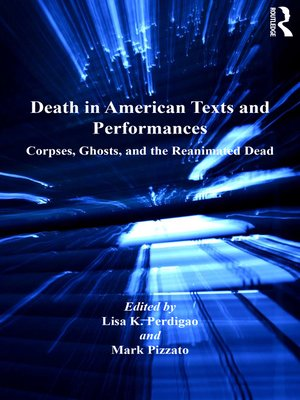 cover image of Death in American Texts and Performances