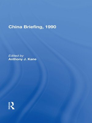 cover image of China Briefing, 1990