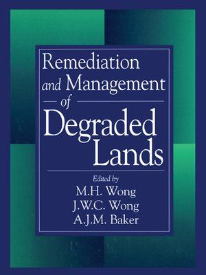 cover image of Remediation and Management of Degraded Lands