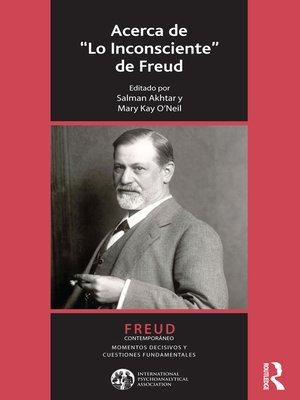cover image of Acerca de Lo Inconsciente de Freud