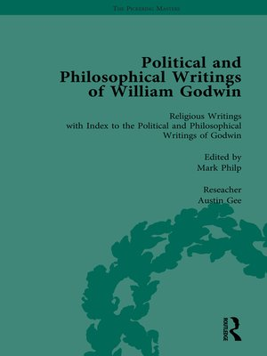 cover image of The Political and Philosophical Writings of William Godwin vol 7