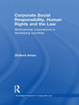 cover image of Corporate Social Responsibility, Human Rights and the Law