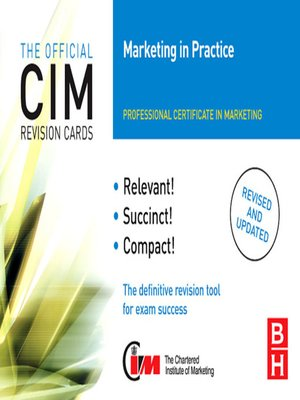 cover image of CIM Revision Cards Marketing in Practice