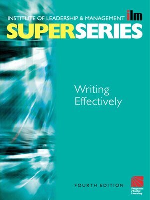 cover image of Writing Effectively