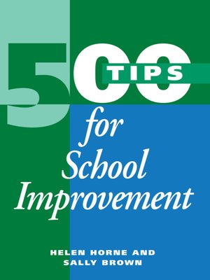 cover image of 500 Tips for School Improvement