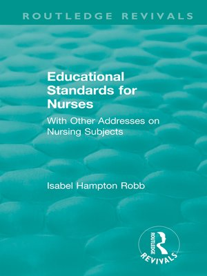 cover image of Educational Standards for Nurses