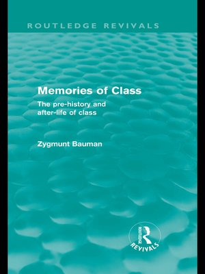 cover image of Memories of Class (Routledge Revivals)