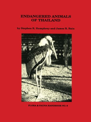 cover image of Endangered Animals of Thailand