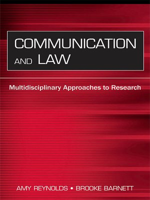 cover image of Communication and Law