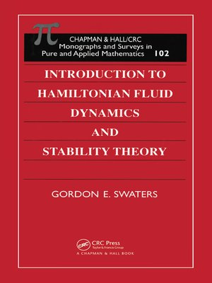 cover image of Introduction to Hamiltonian Fluid Dynamics and Stability Theory