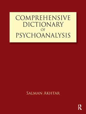 cover image of Comprehensive Dictionary of Psychoanalysis