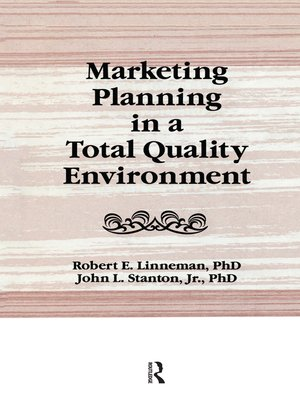 cover image of Marketing Planning in a Total Quality Environment