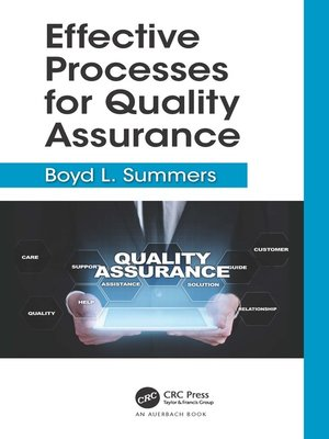 cover image of Effective Processes for Quality Assurance