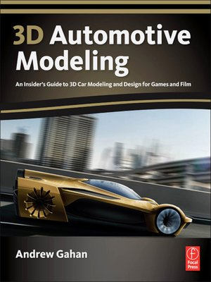 cover image of 3d Automotive Modeling
