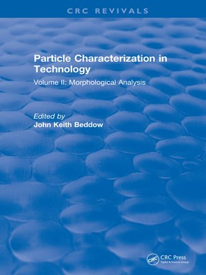 cover image of Particle Characterization in Technology