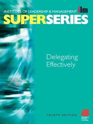 cover image of Delegating Effectively