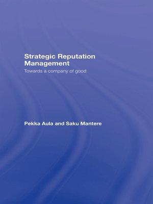 cover image of Strategic Reputation Management