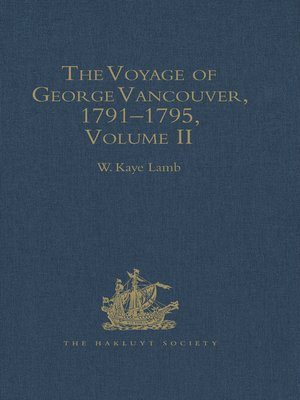 cover image of The Voyage of George Vancouver, 1791--1795