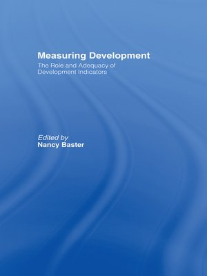 cover image of Measuring Development