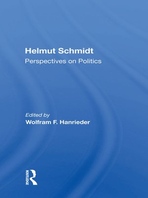 cover image of Helmut Schmidt