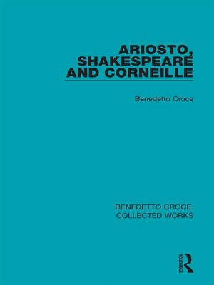 cover image of Ariosto, Shakespeare and Corneille