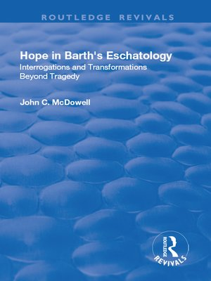 cover image of Hope in Barth's Eschatology