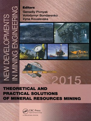 cover image of New Developments in Mining Engineering 2015