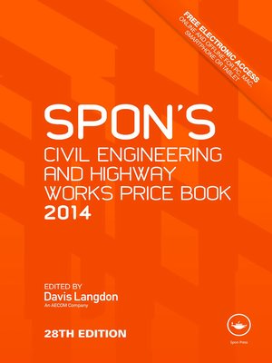 cover image of Spon's Civil Engineering and Highway Works Price Book 2014