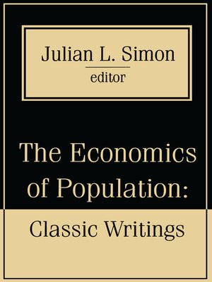 cover image of The Economics of Population