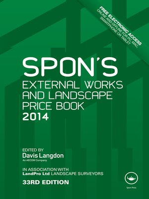 cover image of Spon's External Works and Landscape Price Book 2014