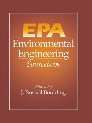 cover image of EPA Environmental Engineering Sourcebook