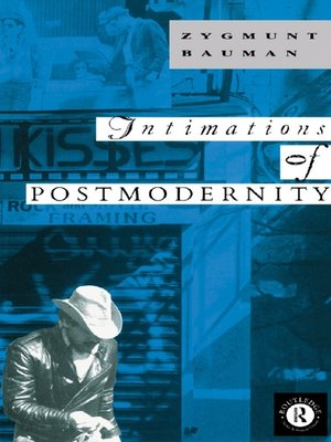 cover image of Intimations of Postmodernity