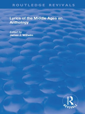 cover image of Lyrics of the Middle Ages