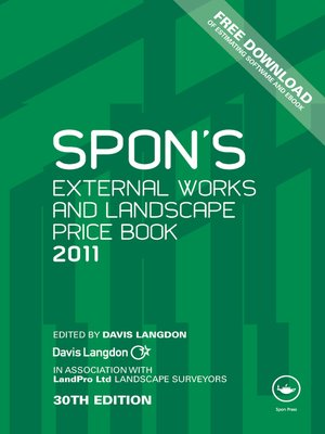 cover image of Spon's External Works and Landscape Price Book 2011