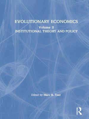 cover image of Evolutionary Economics
