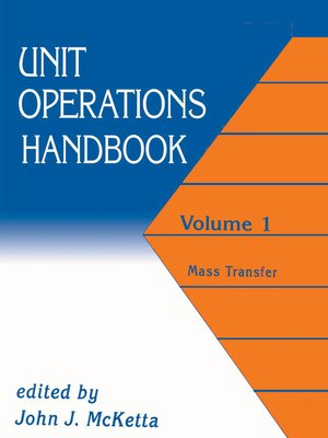 cover image of Unit Operations Handbook