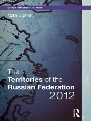 cover image of The Territories of the Russian Federation 2012
