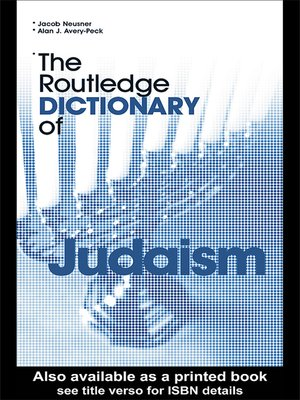 cover image of The Routledge Dictionary of Judaism