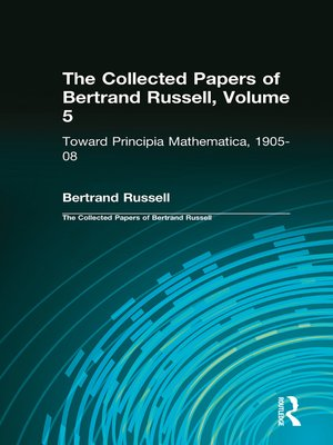 cover image of The Collected Papers of Bertrand Russell, Volume 5