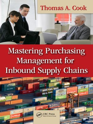 cover image of Mastering Purchasing Management for Inbound Supply Chains