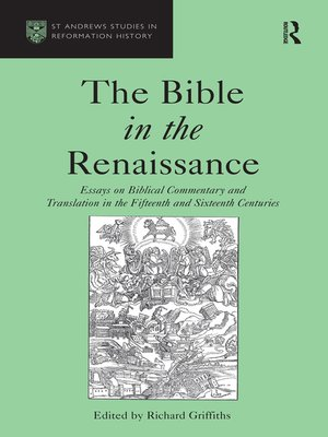 cover image of The Bible in the Renaissance