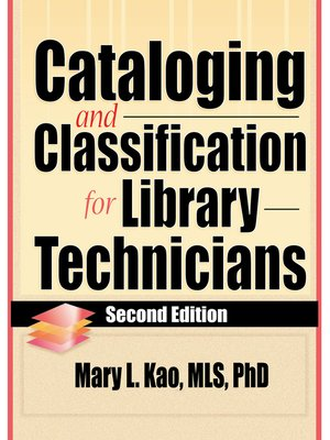 cover image of Cataloging and Classification for Library Technicians