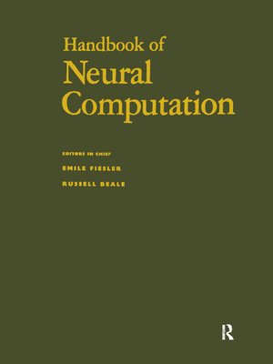 cover image of Handbook of Neural Computation