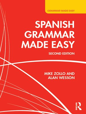 cover image of Spanish Grammar Made Easy