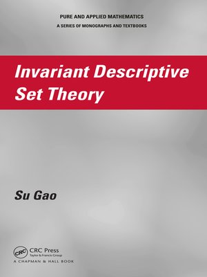 cover image of Invariant Descriptive Set Theory