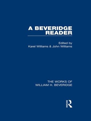 cover image of A Beveridge Reader (Works of William H. Beveridge)