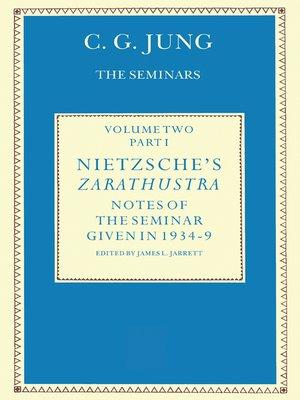 cover image of Nietzsche's Zarathustra