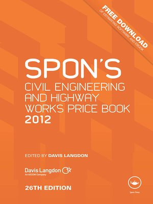 cover image of Spon's Civil Engineering and Highway Works Price Book 2012