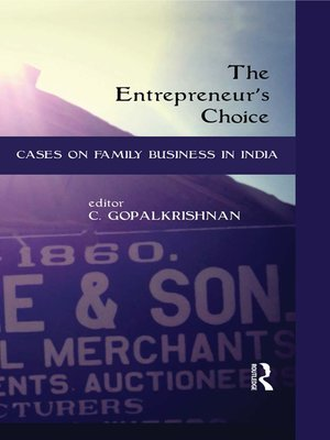 cover image of The Entrepreneur's Choice