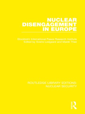 cover image of Nuclear Disengagement in Europe